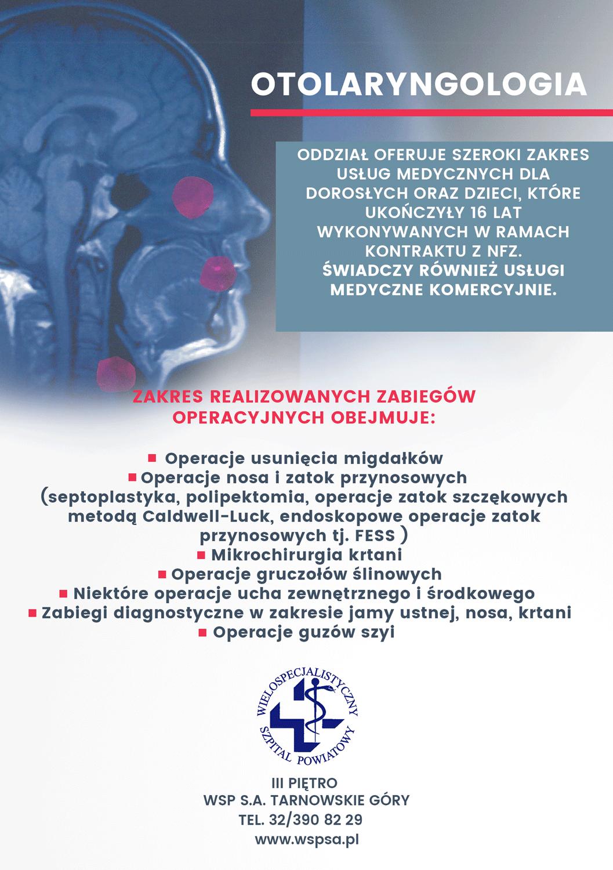 Prezentujemy nasz oddział Otolaryngologiczny