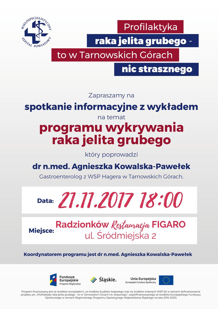 Spotkanie/wykład 21.11 dot. Programu Wykrywania Raka Jelita Grubego