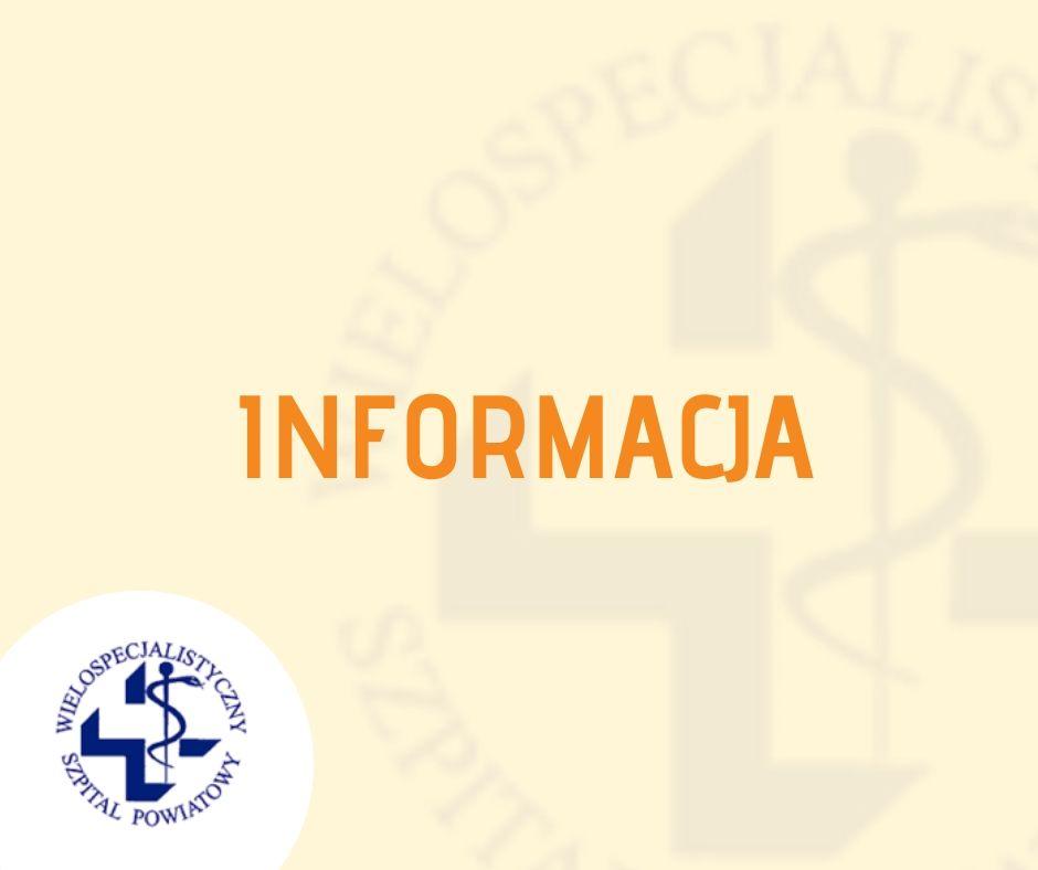Ogłoszenie o wyborze na stanowisko Ordynatora Oddziału Otolaryngologicznego