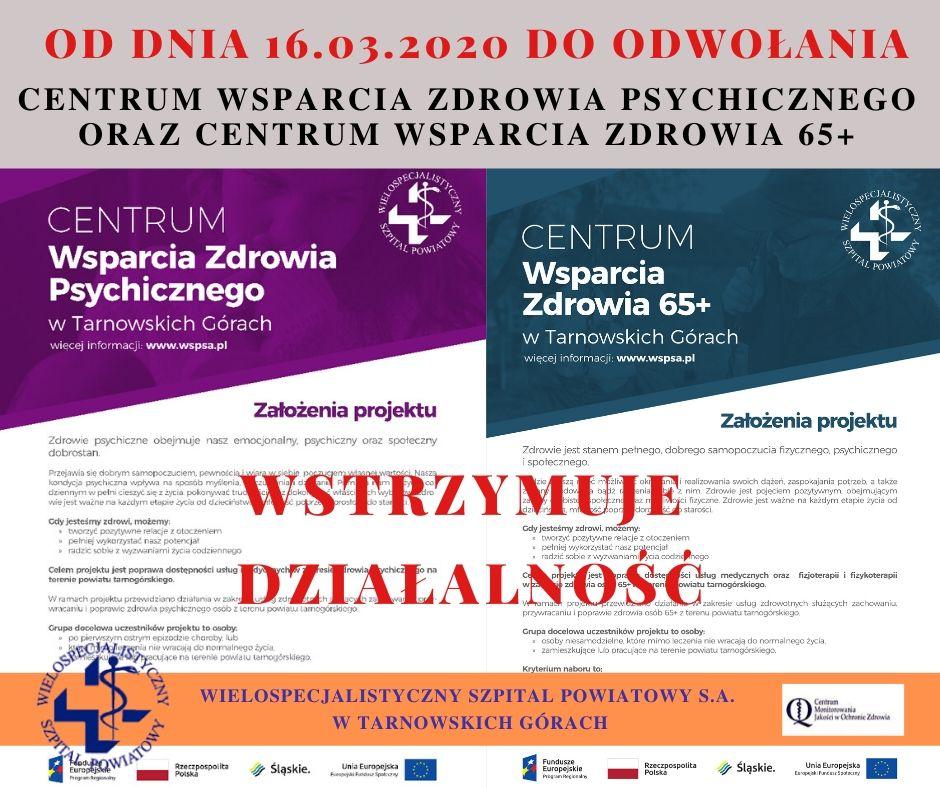 Centra wsparcia zdrowia przy ul. Opolskiej zawieszają działalność!