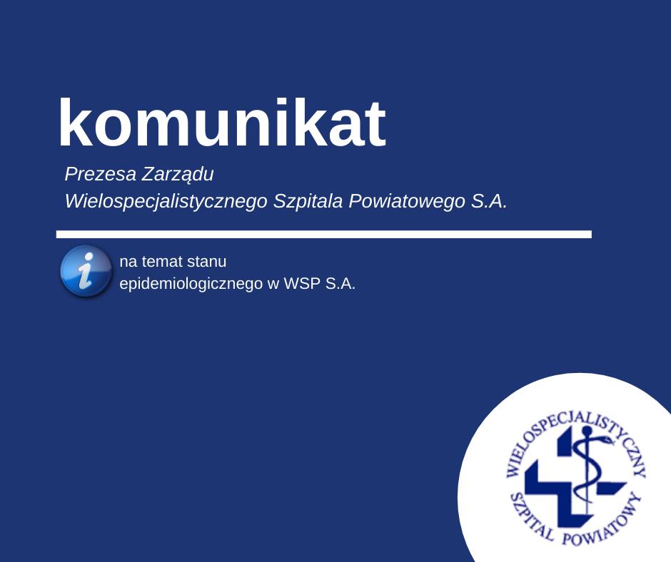 Sytuacja epidemiologiczna w Szpitalu – 11.06.2020
