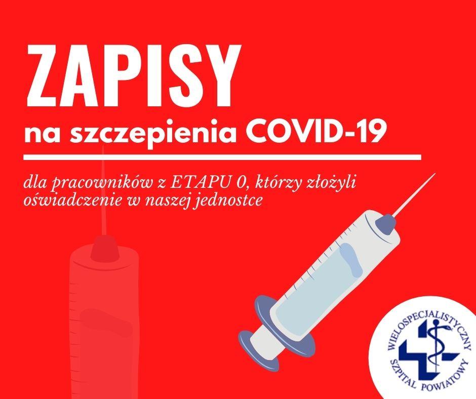 Zapisy na szczepienia przeciw COVID-19 dla pracowników jednostek ochrony zdrowia!