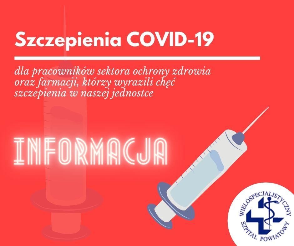 Ważna informacja dotycząca szczepień personelu z etapu 0!