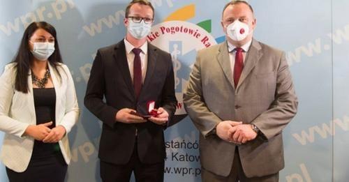 Dawid Świtała odznaczony za zasługi dla Ochrony Zdrowia