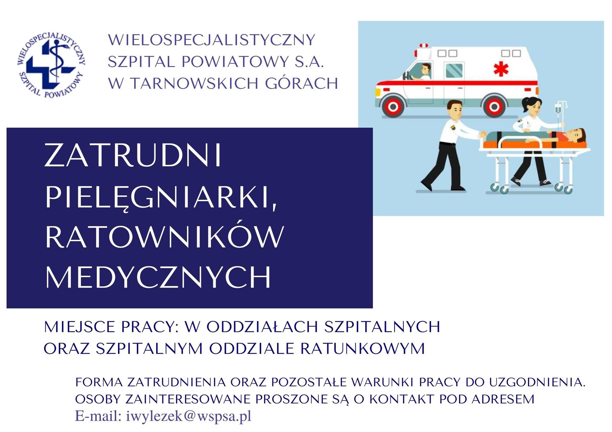 Praca dla pielęgniarek i ratowników medycznych